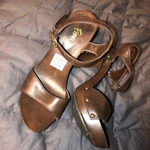 FIONI Clothing Shoes - Women's strappy sandal heels
